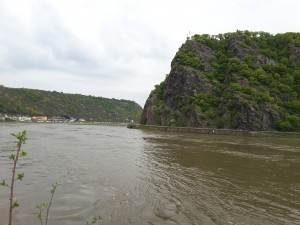 The Lorelei Rock just outside St. Goar