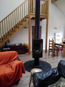 A rotating woodstove