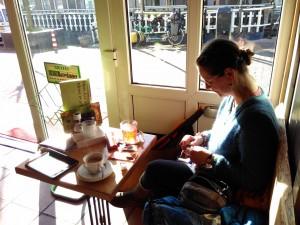 Sunday morning coffee and (rooibosch) tea near Hoek van Holland