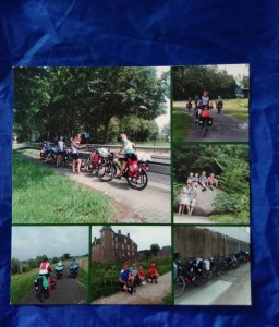 Klarina Soare gave us a lovely picture postcard of her family when they were travelling down the Danube by bike into Romania where her husband Andrei was born.