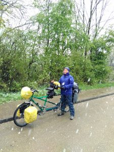 Yes! A snowshower in late April in Southern Germany
