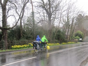 Setting off in the rain from Mobberley where Si,on'd brother lives