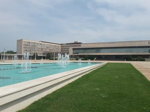 The Yugoslavian parliament building. Since the break up of Yugoslavia into its seperate states.