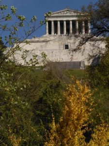 The Walhalla memorial building - conceived in 1807 by Crown Prince Ludwig, it was built between 1830 and 1842