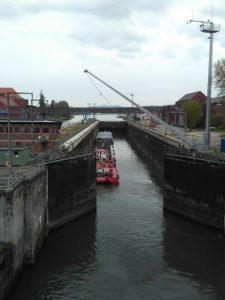 Massive lock near Passau.