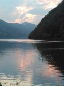 The Donau curving sharply at Schlögen