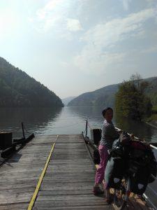 View from the ferry near Schlögen, Austria
