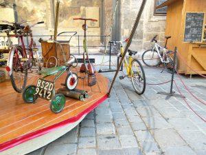 Bike powered merry-go-round