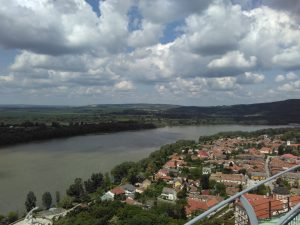 Looking downriver to our next destinations, Szentendre and Budapest