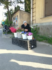 A flower seller we passed