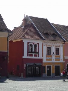 Buildings in the town square of Szentendre