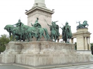 The Magyars who founded Hungary.... on Hősök Tere -Hero's Square