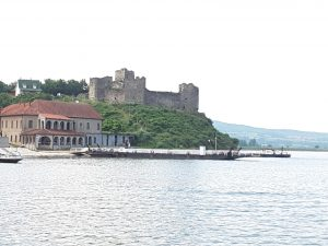 The Ottoman castle built in 16th Century then left as a shell when it was comprehensively desroyed inside by the Austrian Hapsburg empire as they repelled the turks.