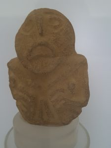 The finds at the museum included carved figures that were placed prominently in many of the huts - dated from 8,000 B.C.