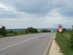 A long descent down to Razgrad... over 2 miles down without pedalling!