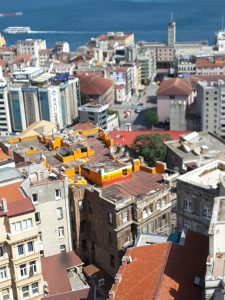 A view of rooftops from the Galata Tower