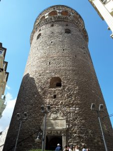 The Galata Tower , completed in 1348 by the Genoese settlers in Istanbul