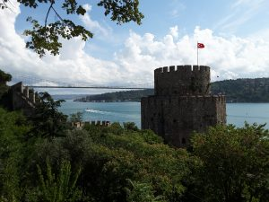 The Rumeli Fortress built by the Ottomans prior to their capture of Constantinople in 1451