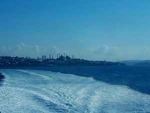 Our last view of Istanbul as we headed across tge Sea of Marmera to Bandirma.