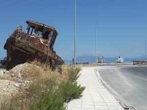 Entrance to the port at Patras.